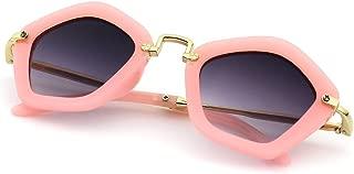Girls Kids Children Pentagon Shape Frame Fancy Sunglasses UV400 Protection