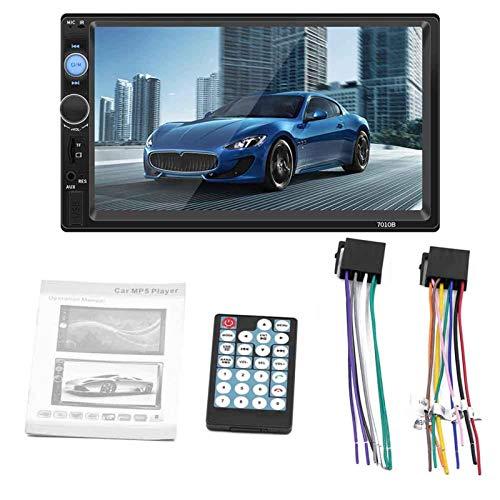 Monitor De Coche De Marcha Atrás con Radio Estéreo De Coche con Pantalla Táctil Bluetooth De 7 Pulgadas para 2 DIN 7'HD MP5.17.80 X 10.00 X 5.50 Cm
