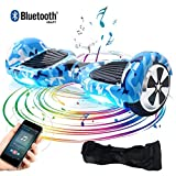 BEBK Hoverboard 6.5' Smart Self Balance Scooter con Bluetooth, Overboard con LED, 2 * 250W Motore