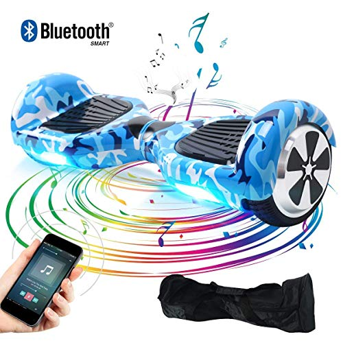 "BEBK Hoverboard 6.5"" Smart Self Balance Scooter con Bluetooth, Overboard con LED, 2 * 250W Motore"