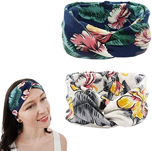 Just Decors Headbands for Women Sweet Gift Pack 2pcs High Elastic Non Slip Breathable Soft Headband product image