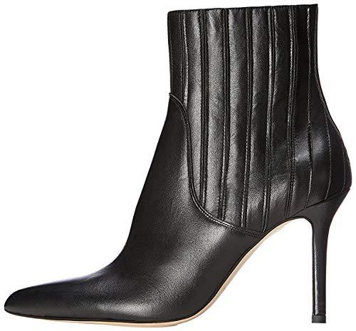 find. Stiefel Damen aus strukturiertem Leder, mit hohem Absatz, Schwarz (Black), 39 EU