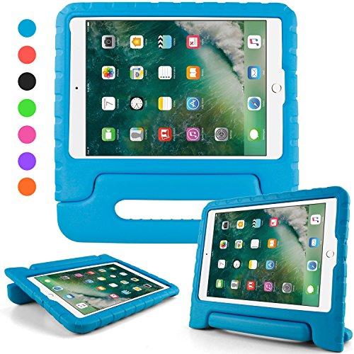 iPad 2018 2017 ケース アイパッド 2017 9.7 ipad air2 ipad air ケース キッズ 超軽量 耐衝撃 スタンド ハンドル付き EVA 保護 新型 Apple iPad 9.7 2017 カバー (ブルー)
