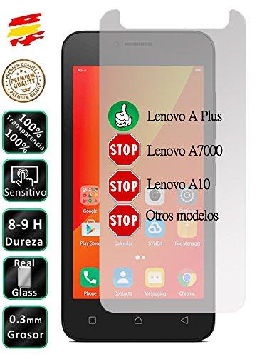 Movilrey Protector para Lenovo A Plus A1010 3G 4.5 Cristal Templado de Pantalla Vidrio 9H para movil