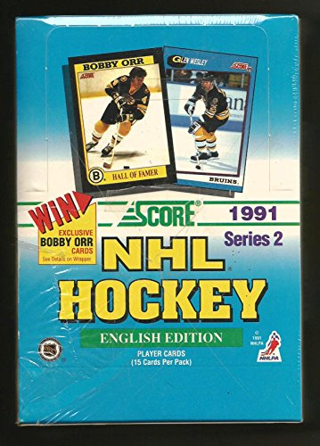 1991/92 Score Canadian English Series 2 Hockey Hobby Box