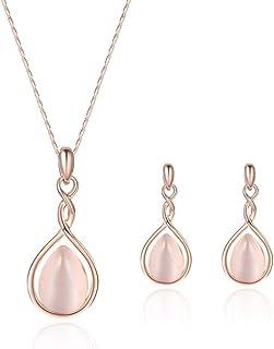 Holibanna Conjunto de joias femininas, conjunto de brincos, joias em forma de gota d'água, suprimentos de festa para mulhe...