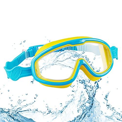 Gafas Natación Infantil para Piscina Antiniebla Gafas para Nadar Protección UV sin Fugas Gafas para Nadar Gafas De Natación Antigoteo Gafas de Natación para Niñas Niños Juventud Edad 3 – 13( Azul)