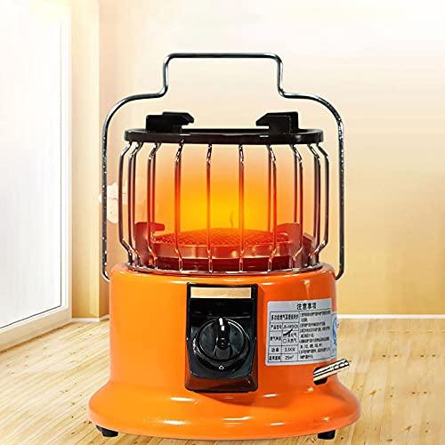 WTOKL Mini Calentador de Gas 2 en 1, Estufa de Camping portátil con calefacción de Invierno, Cocina/calefacción con asa, para Uso en Acampada en Interiores y Exteriores,Liquefied Gas