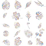 20 Pieces Leaf Static Window Stickers Window Decorations 3D Decorative Window Vinyl Anti Collision Window Decals for Bird Strikers, Stop Birds Flying into Windows, Colorful