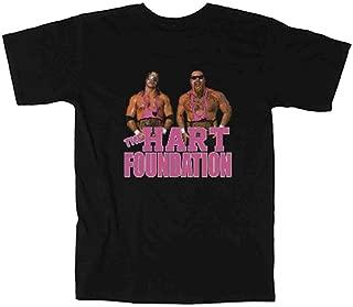 Black The Hart Foundation WWF T-Shirt