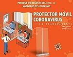 Mampara protectora portátil oficinas y trabajo - Protector móvil 200cm x 100cm - Mampara plegable co... #3