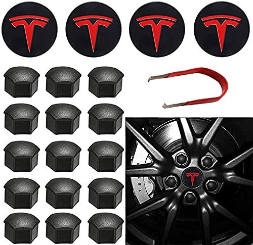 4 Piezas De Tapas Rueda Centro Tapacubos De Metal Para Model Y Model 3 Model S Model X,La Rueda Logo Insignia Coche Accesorios