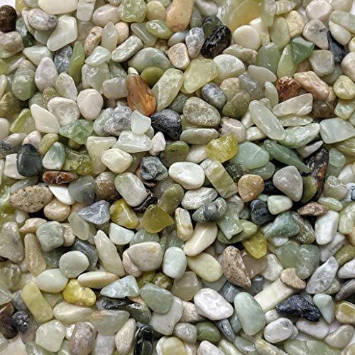 Midwest Hearth Natural Decorative Polished Jade Pebbles 3/8' Gravel Size (2-lb Bag)