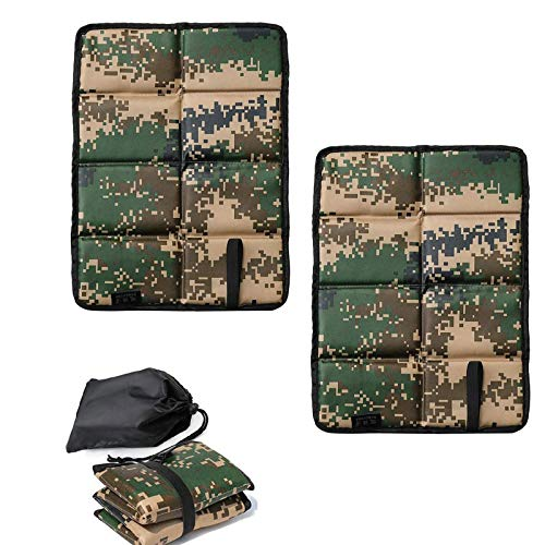 Camping Cushion Seat Folding Lightweight Foam Sitting Pads Waterproof Camping Cushion Foam Seat Pad Foldable Outdoor Sitting Mat Backpacking Hiking Camping,Pack of 2 (Camouflage, 2pc)