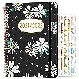 Agenda 2021 2022 A5, Agosto 2021 – Julio 2022 con Pestañas Mensuales, Páginas de Notas, Pegatinas Mensuales y Tapa dura...