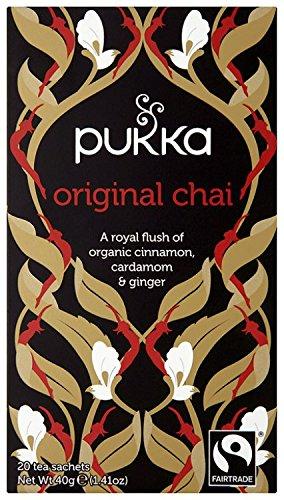 Pukka Herbs Organic Black Spice Chai Tea - Pack of 20 Sachets