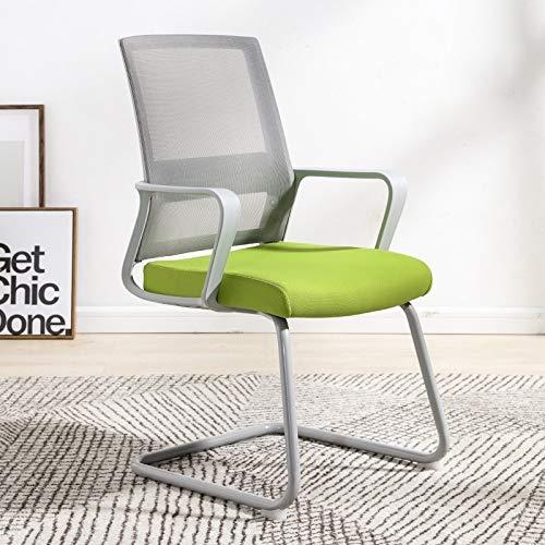 YOUZHIXUAN Productos de Calidad TO-329 Silla for computadora Silla de Oficina Silla for el hogar Silla cómoda y Simple Silla de Escritorio con Marco Gris Silla de Arco (Verde)