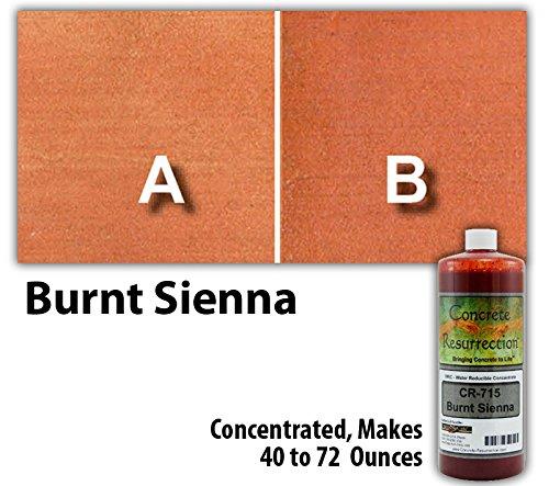 Professional Grade, Environmentally Friendly, Semi-Transparent Water Reducible Concentrate (WRC) Concrete Stain - Burnt Sienna Sample Size 8oz Concrete Resurrection