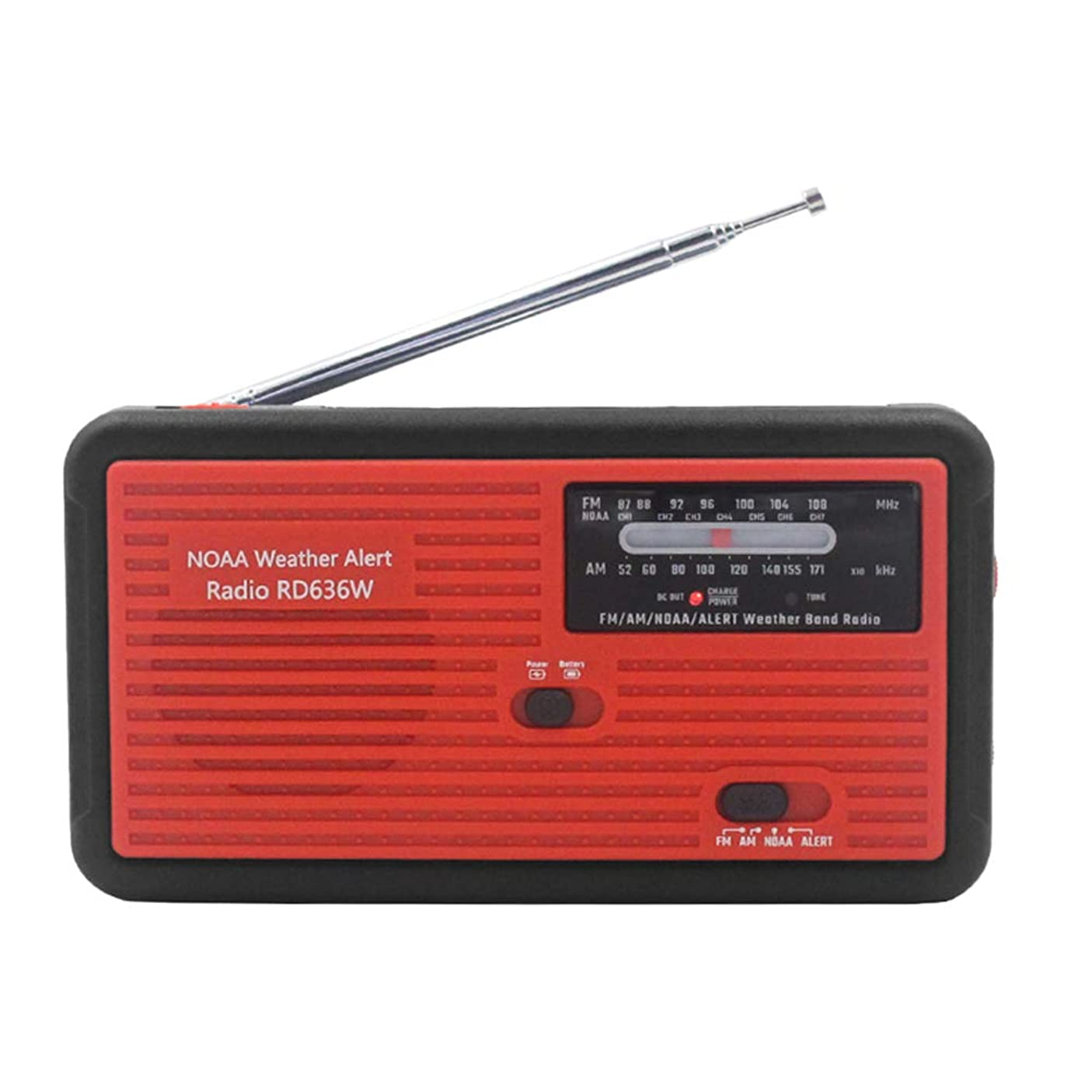 再現するスワップ知り合いになるDocooler RD626 FMラジオ AMラジオ ワイドFM対応 ポータブルラジオ 緊急LED懐中電灯サイレンマイクロ
