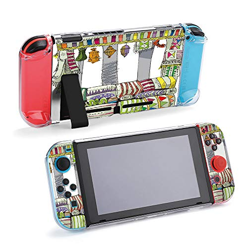 SUPNON Carry Case Compatible with Nintendo Switch, Ultra Slim Hard Shell, Protective Carrying Case for Travel - Vintage Carpet Market Design7398