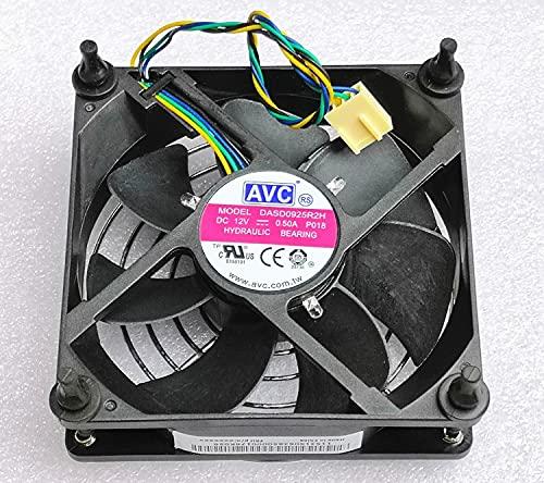 Zyvpee 90MM DASD0925R2H 12V 0.5A 4Wires 4Pin fotocatalizador para goma de la cubierta de la red del clavo ventilador de enfriamiento 90X90X25MM