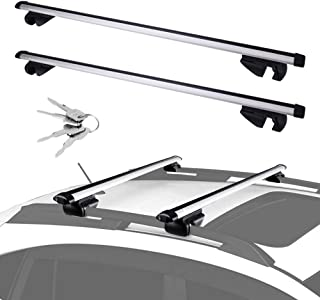 LED Kingdomus Universal Cross Bars Roof Rack, Adjustable Crossbars for Maximum 48