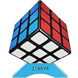 JINEVE スピードキューブ 2020最新マット感 (日本語6面完成攻略書・専用スタンド付き) 3x3x3 競技専用キューブ 回転スムーズ 立体パズル 世界基準配色 ストレス解消 脳トレ ポップ防止 保証書付き