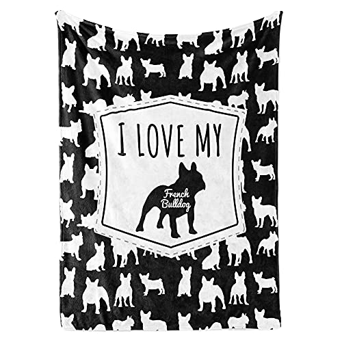 French Bulldog Gifts Throw Blanket, French Bulldog Accessories, French Bulldog Decor, Frenchie Gifts, Frenchie Decor, French Bulldog Blanket, Birthday Gift for Frenchie Owner (D7, 60'x80' Sherpa)