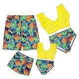 Mumetaz Badeanzug für Familien, Einteiler, Monokini, Ananas, bedruckt, Tankini, Bikini-Set für...