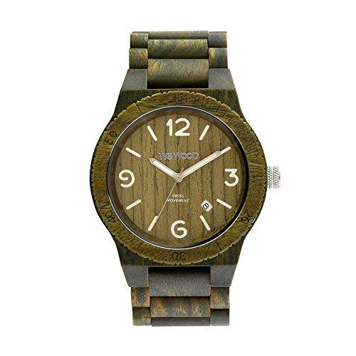 WEWOOD Herren Analog Quarz Smart Watch Armbanduhr mit Holz Armband WW08010