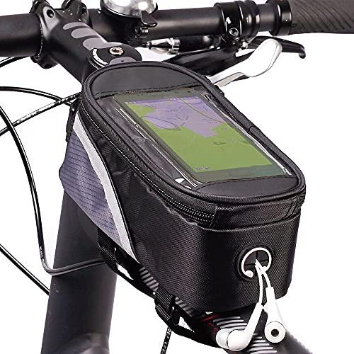 XINGENG Bolsa de bicicleta Ciclismo Bolsa de Bicicleta Bicicleta Cabeza Tubo Manillar de Teléfono Móvil Bolsa de Teléfono Móvil Titular de la Bolsa de Montaje de Teléfono Bolsas