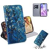 Dmtrab Phone Case for Coque de Portefeuille Huawei Nova 3, Dessin de Couleur de Fleur d'abricot,...