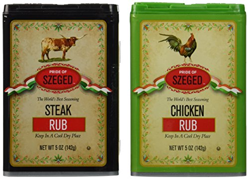 Szeged Steak and Chicken Rub Combo Pack
