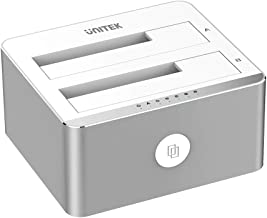 Unitek Aluminum USB 3.0 to SATA Dual Bay External Hard Drive Docking Station with UASP..