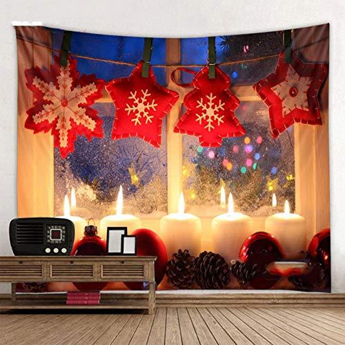 Fondo de tapiz de casa hermosa de Navidad tapiz de pared de arte navideño decoración del hogar