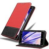 Cadorabo Hülle für Nokia Lumia 830 in ROT SCHWARZ –