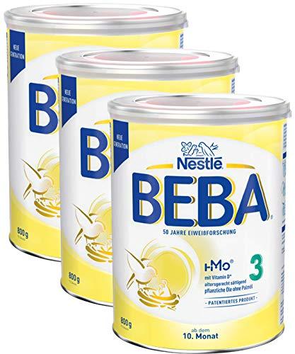 Nestlé BEBA 3 Folgemilch, Folgenahrung ab dem 10. Monat, 3er Pack (3 x 800g)