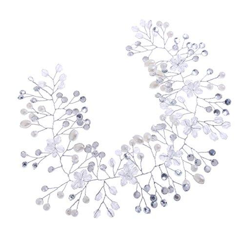 Homyl Prata Cristal Pérolas Tiara Tiara Tiara Tiara Acessório de cabelo de noiva para formatura