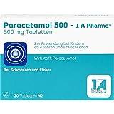 Paracetamol 500-1 A Pharma, 20 St. Tabletten