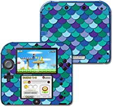 MightySkins Skin Compatible with Nintendo 2DS - Blue Scales   Protective, Durable, and Unique Vinyl Decal wrap Cover   Easy to Apply, Remove, and Change Styles   Made in The USA