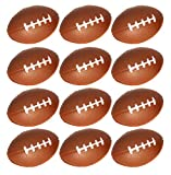 Mini Foam Football Stress Balls For Kids Football Themed Parties And Party Favors - Pack Of 12 Stress Footballs
