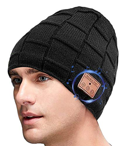 iWINTOP Bluetooth Beanie Hat for Men Women Gifts,V5.0 Headphone Beanie Music Hat for Outdoor Sports