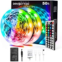 Daybetter 5050 RGB Infrared Remote Control 50ft Led Strip Lights