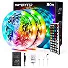 Daybetter 5050 RGB Infrared Remote Control Color Changing 50ft Led Strip Lights