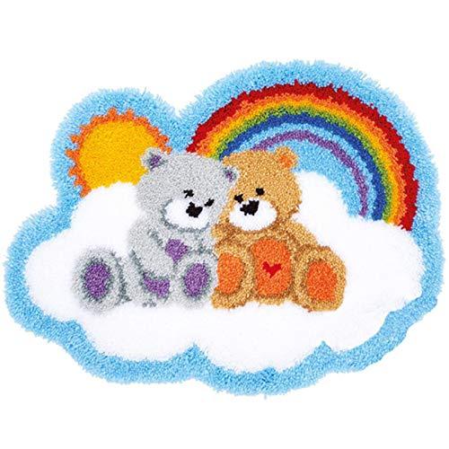 LFTYV Kits De Cojín De Gancho De Gancho De Bricolaje Funda De Cojín Cojín Alfombra Estera De Suelo Funda De Almohada Hecho A Mano Craft Crochet para Niños Adultos Regalo