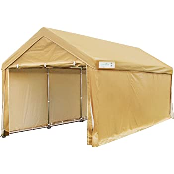 Amazon.com: Bestmart INC 10x15ft Heavy Duty Beige Carport ...
