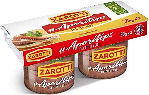 Zarotti Filetti di alici in olio delicato cluster 50 gr.x2 (Confezione da 12) - 2.6 kg