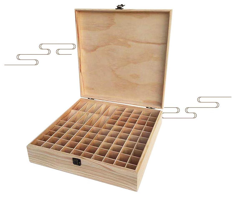 チロ革新デンマークエッセンシャルオイル収納ボックス 85本用 木製エッセンシャルオイルボックス メイクポーチ 精油収納ケース 携帯用 自然ウッド精油収納ボックス 香水収納ケース
