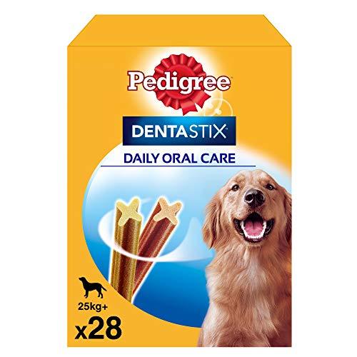 Pack de 28 Dentastix de uso diario para la limpieza dental de perros grandes (Pack de 4)