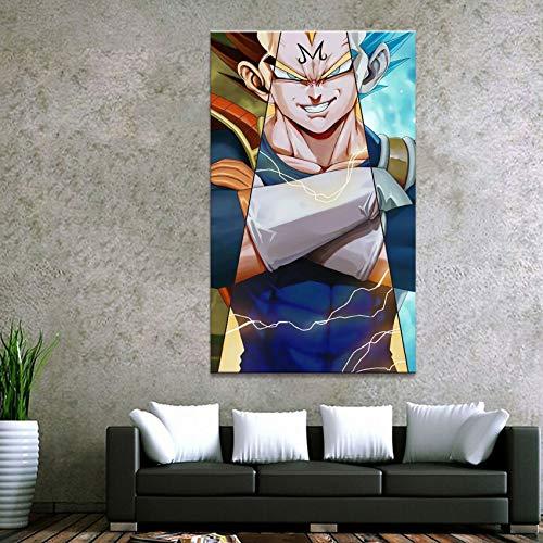 yuandp 1 Stück Moderne Malerei Goku und Vegeta Leinwand Gedruckt Wandkunst Bilder Wohnkultur Für Wohnzimmer Dragon Ball Poster Unframed50x70cm x 1 pcsNo Rahmen